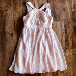 davids bridal prom chiffon bridesmaid dress Sz 14